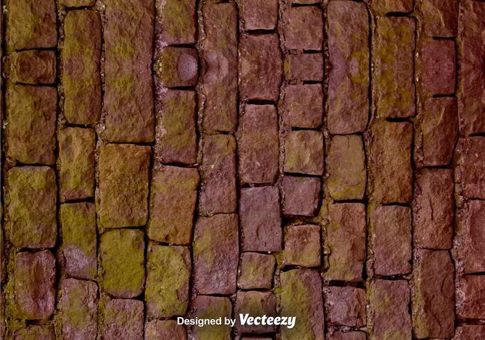 Vector Realistische Steinmauer Textur