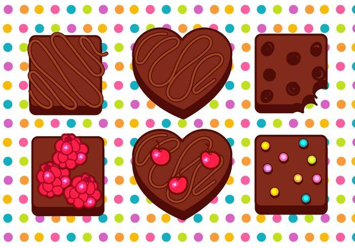 Brownie vektor uppsättning