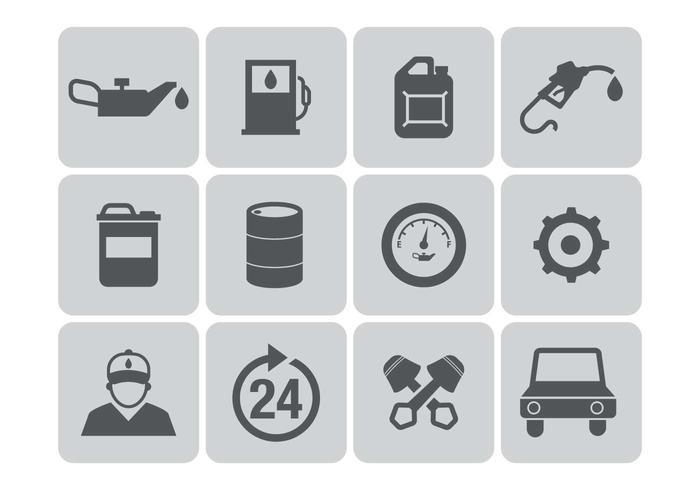 Kostenlose Tankstelle Icons Vektor