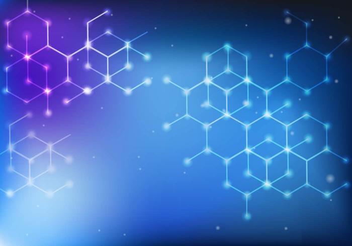 Blå kemisk formel bakgrund vektor