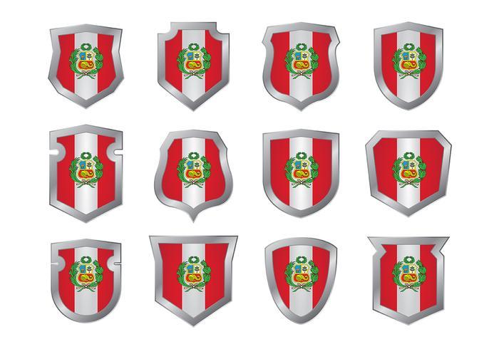 Peru Flagg Vektor