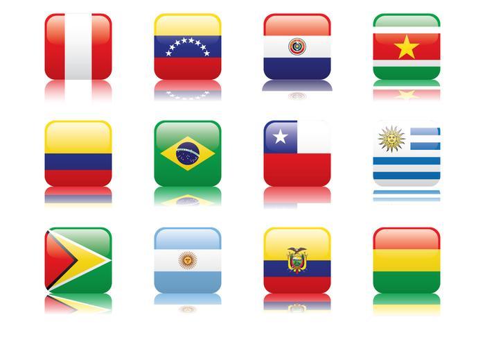 Peru och Sydamerika Flagga vektor