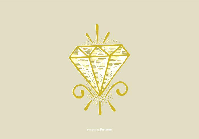 DIAMOND - LINE ZEICHNUNG vektor