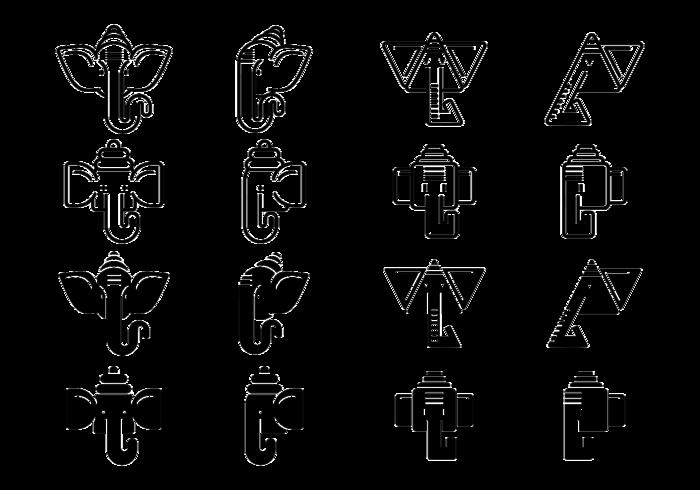 Ganesh Vektor Symbole