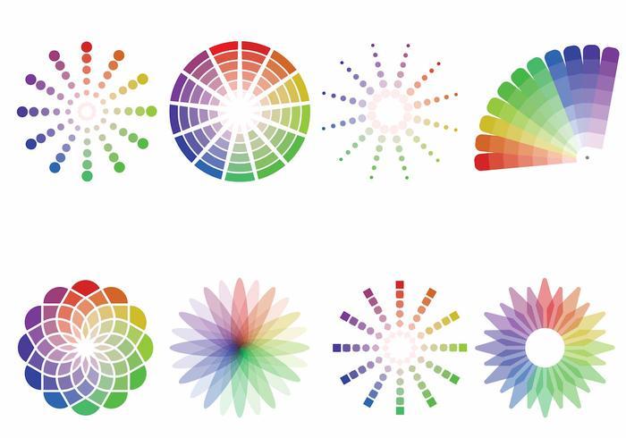 Färgfärger vektor