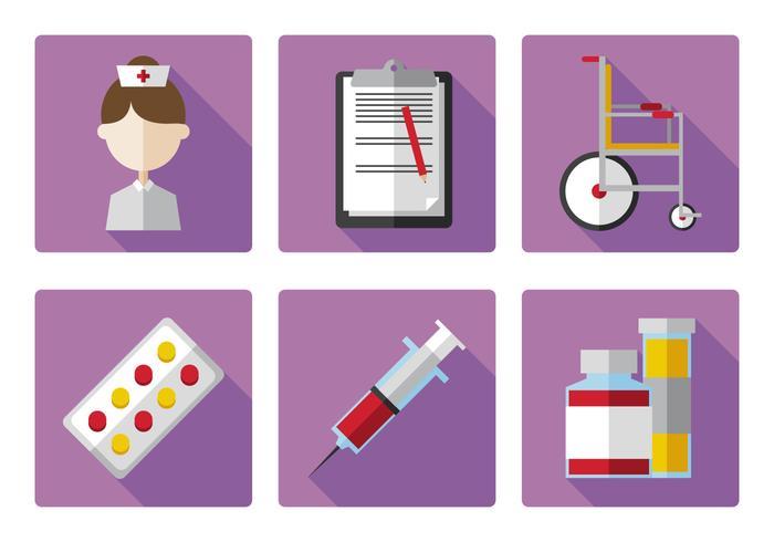 Vektor sjuksköterska ikonuppsättning