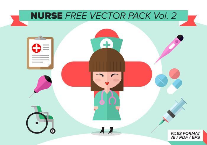 Sjuksköterska Gratis Vector Pack Vol. 2