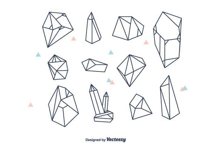 Geometrisk kristaller Vector