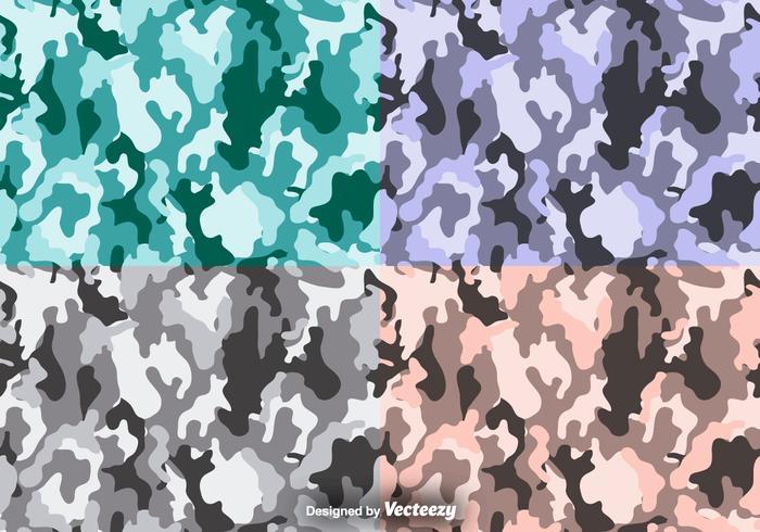 Multicam vektor kamouflage sömlös mönsteruppsättning