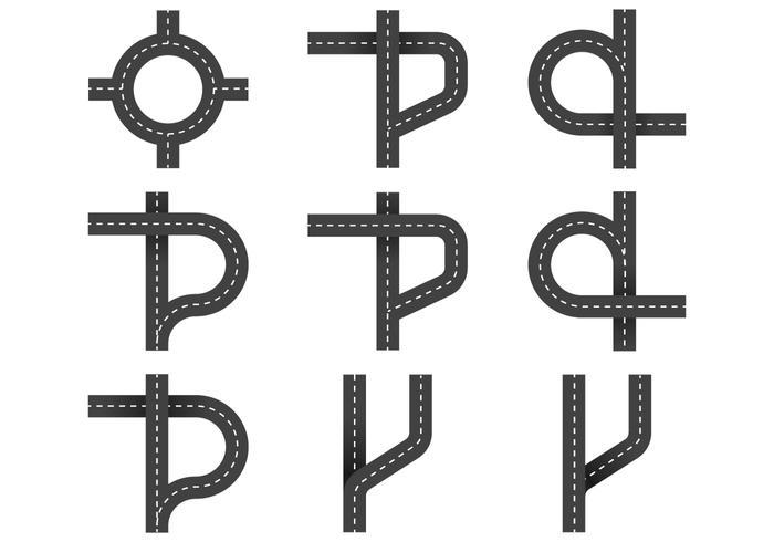 Straße Navigation Symbol vektor
