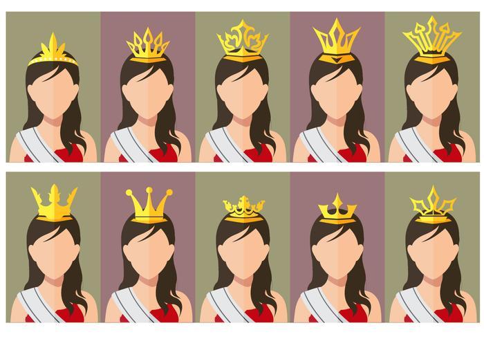 Pageant Crown Beauty Wettbewerb Königin vektor