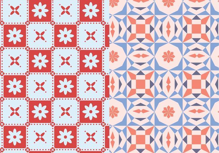 Mosaisk geometrisk mönster vektor