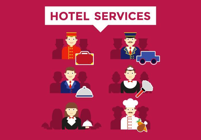 Concierge Hotel Dienstleistungen Illustrationen Vector