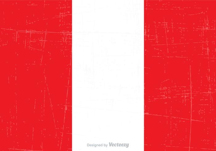 Free Grunge Peru Bundesflagge Vektor