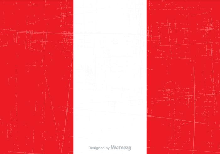 Gratis Grunge Peru Federal Flag Vector
