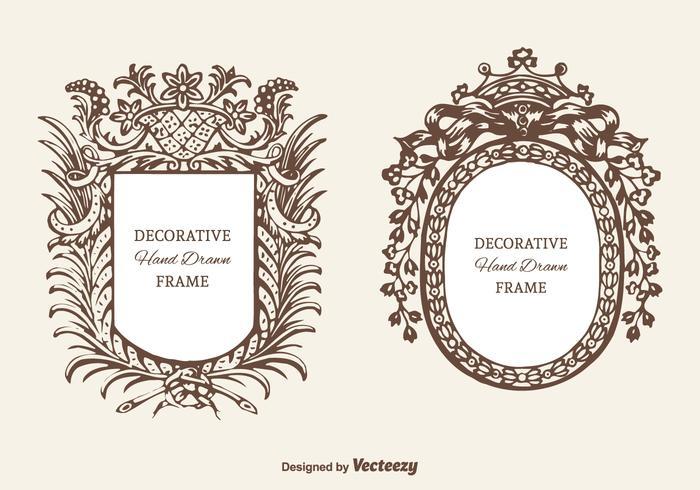 Freier dekorativer Kartuschen-Vektor-Set vektor