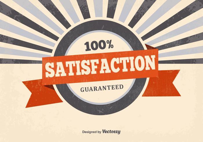 Retro Zufriedenheit Garantierter Hintergrund vektor