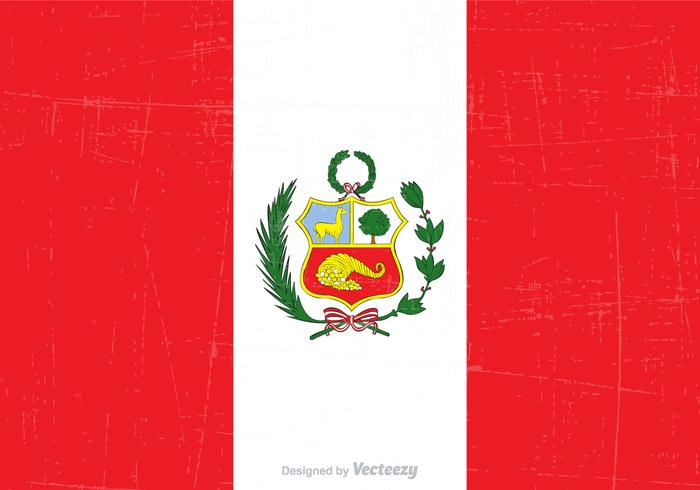 Gratis Grunge Peru Statlig Flagg Vektor