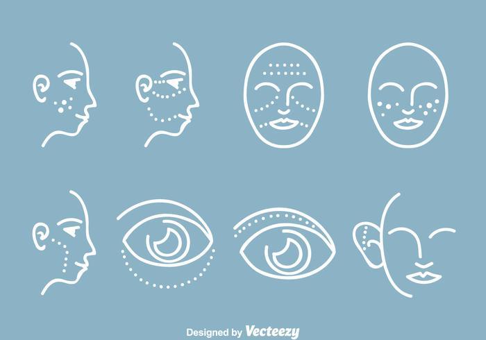 Kosmetiska plastikkirurgiska ikoner vektor