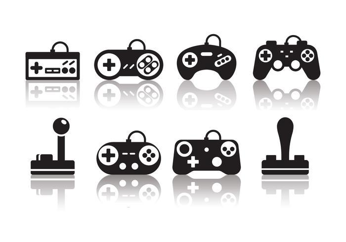 Kostenlose Minimalist Gaming Joystick Icons vektor