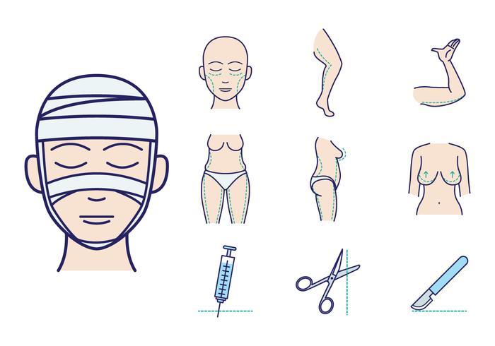 Gratis plastikkirurgi vektor