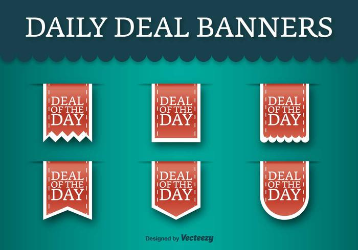 Deal Of The Day Vector Labels - Vektor Rabatt Tags