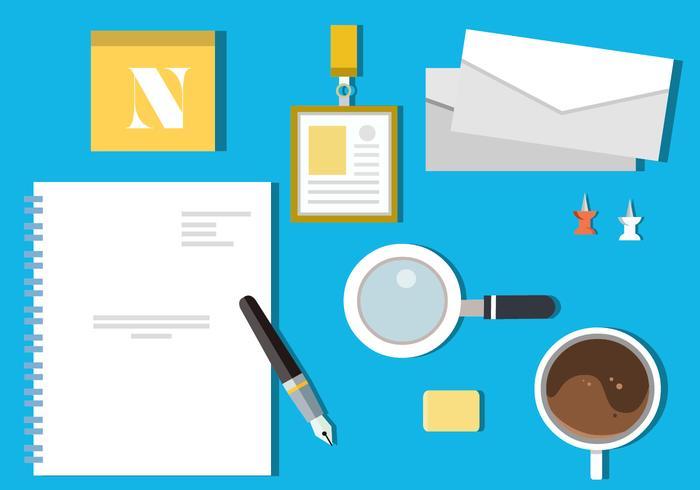 Gratis platta design ikon uppsättning av företag vektor