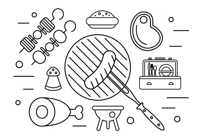 Familie Picknick Illustration in Vektor
