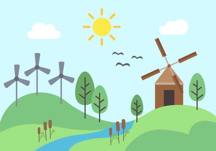 Freien grünen Energie-Vektor vektor