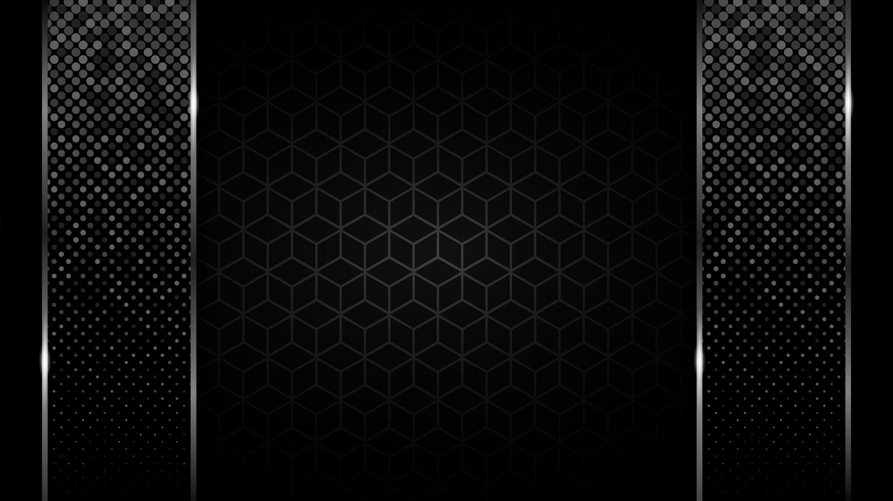 funkelnde vertikale Balken über dem schwarzen Würfelmuster vektor