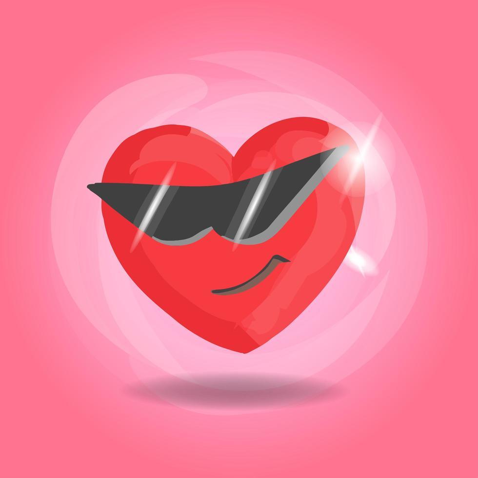 süßes männliches Herz auf rosa Hintergrund vektor