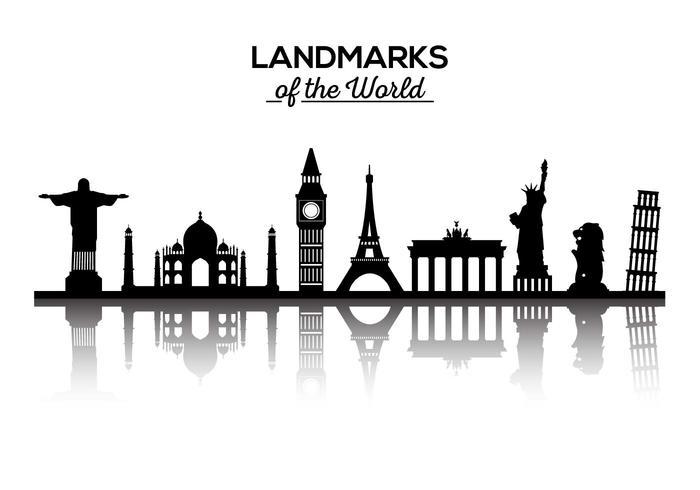 Gratis landmärken i världen Vector