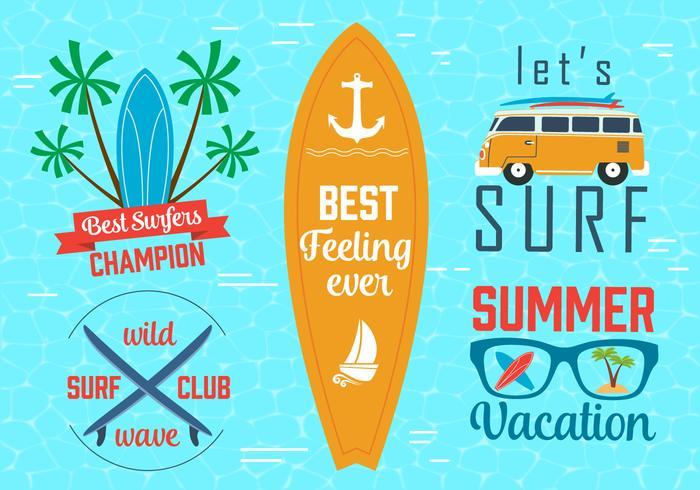 Free Vector Surfing Grafiken und Embleme