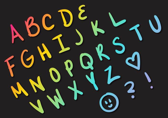 Letras bokstäver alfabet set a vektor