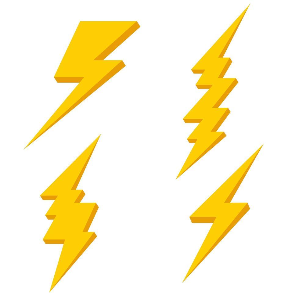Blitzvektorsatz vektor