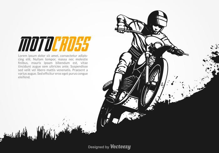 Gratis Vektor Motocross Illustration