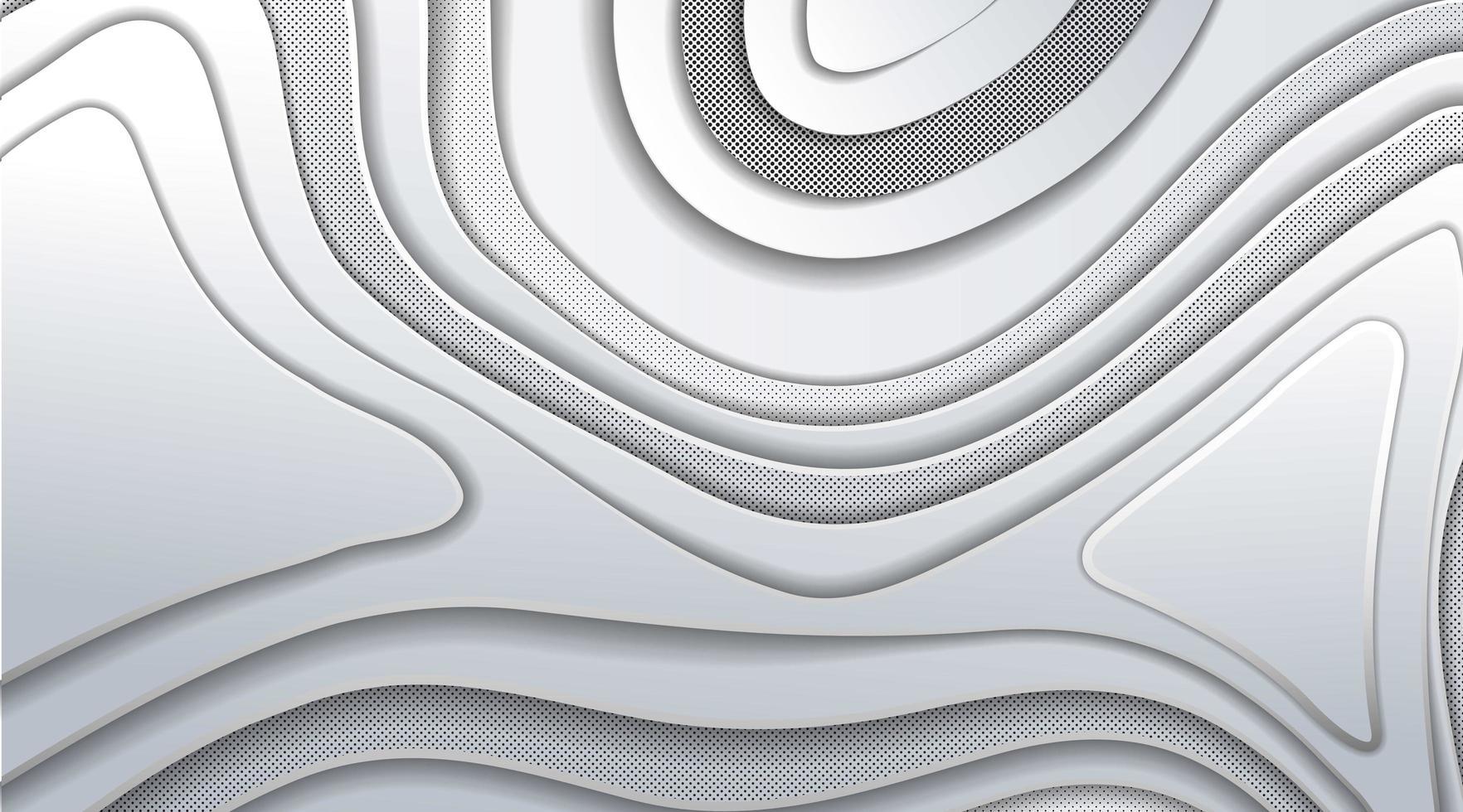 überlappendes graues Wellenverlaufdesign vektor