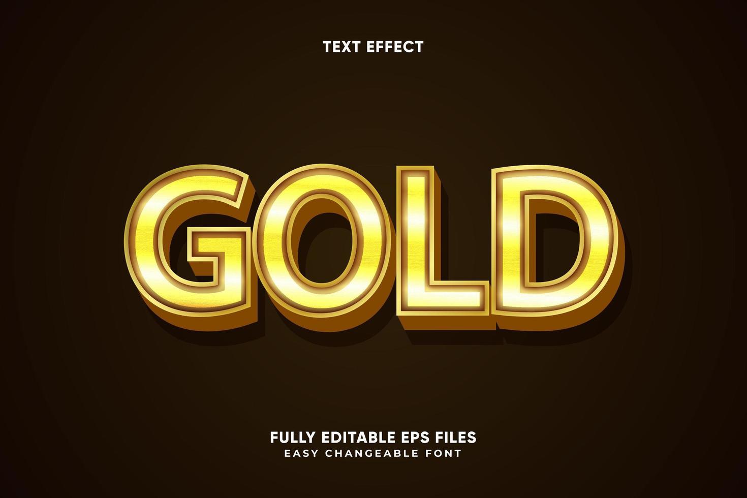 redigerbar guldtexteffekt vektor
