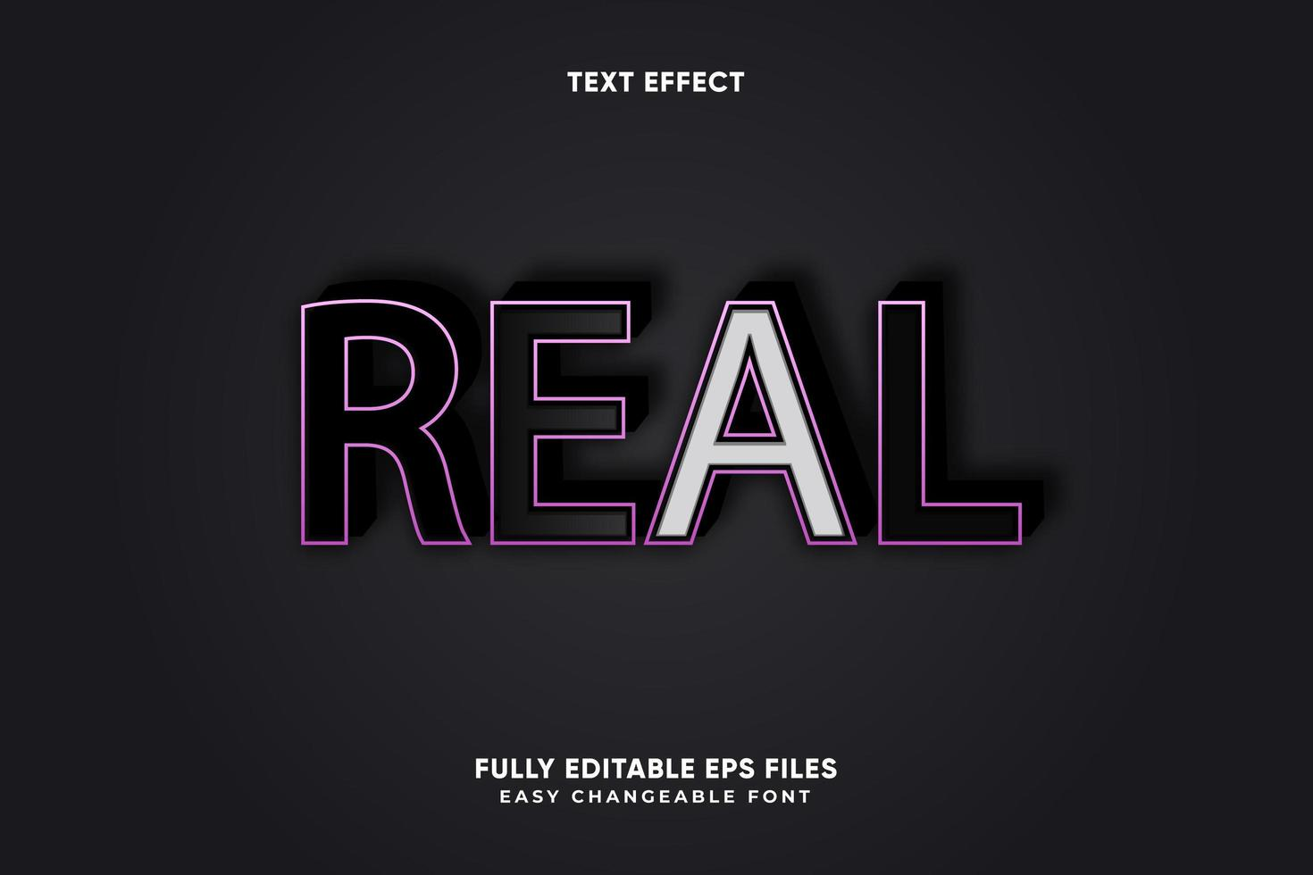 redigerbar verklig texteffekt vektor