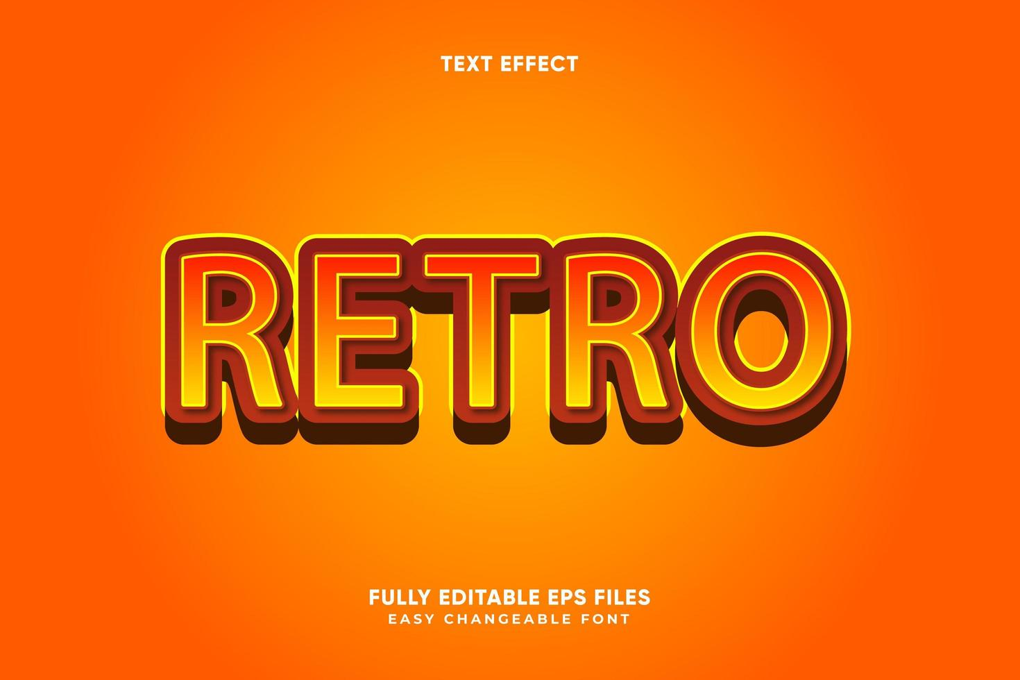 bearbeitbarer Retro-Texteffekt vektor