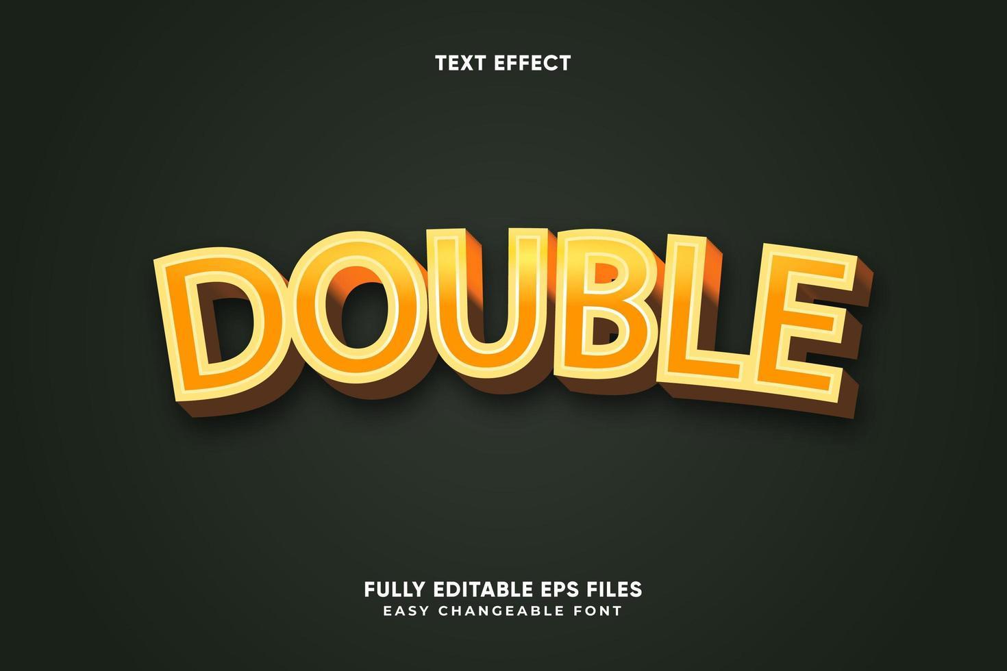 redigerbar dubbeltexteffekt vektor