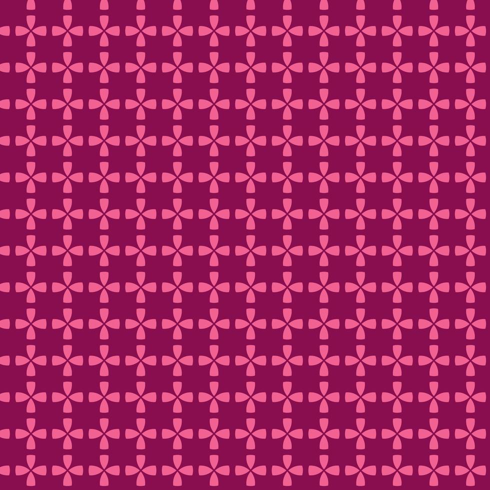 rosa sammankopplande geometrisk cirkel sömlösa mönster vektor
