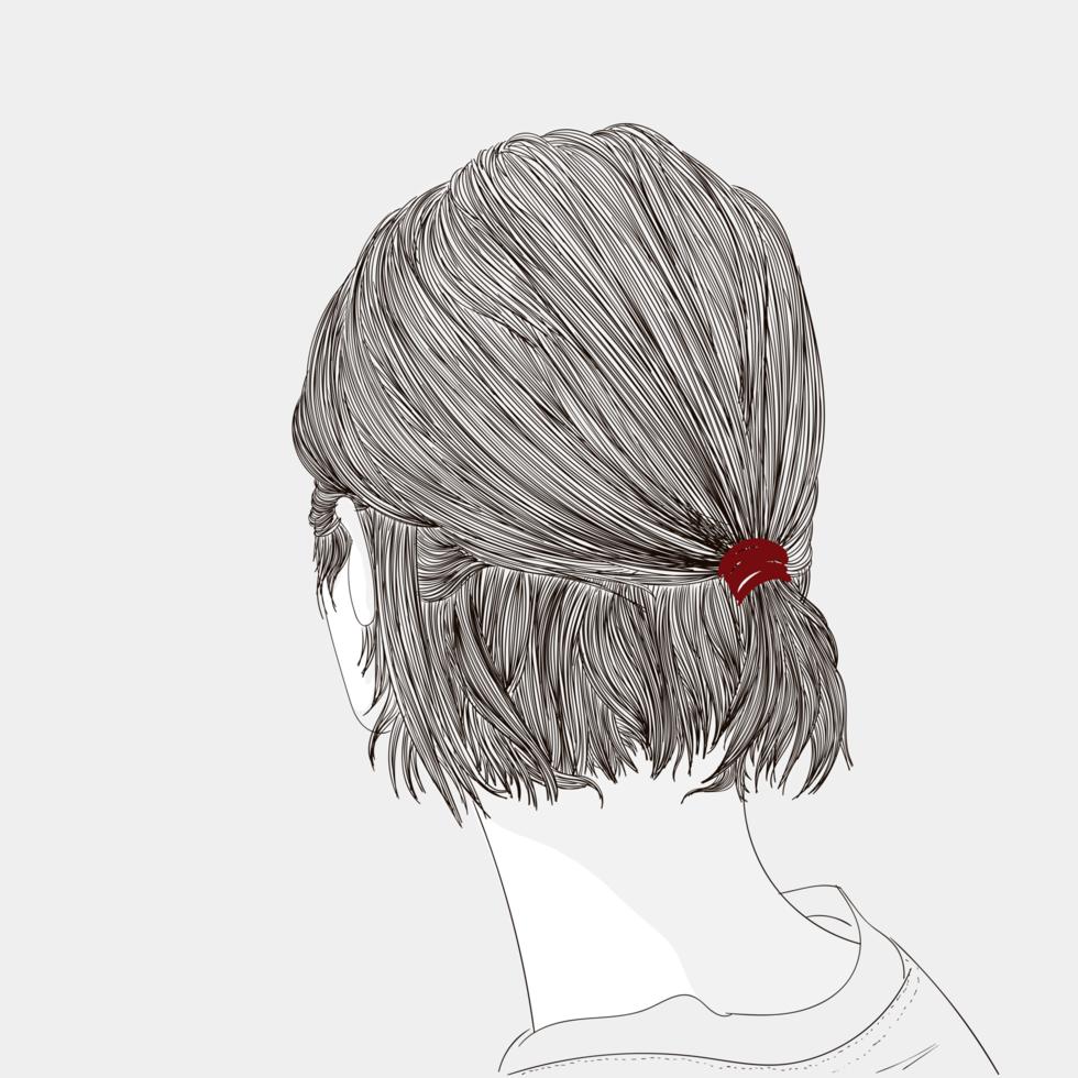 Skecth der Frisur vektor
