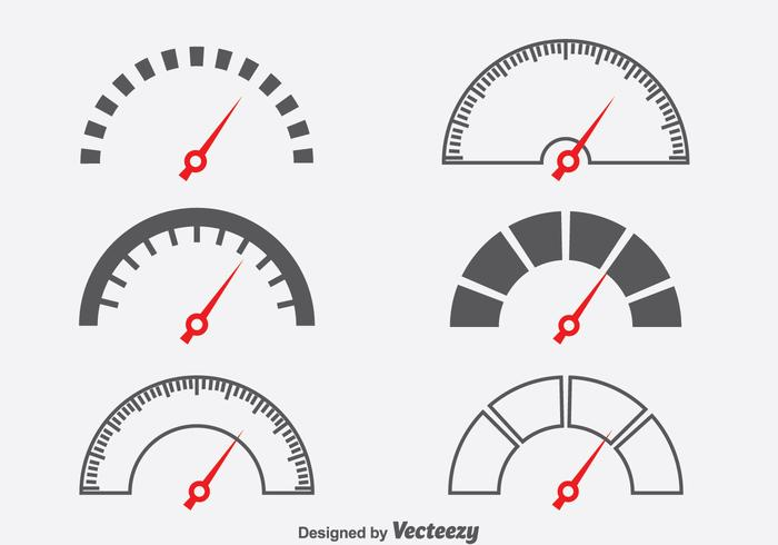 Tachometer Symbol Vektor Set