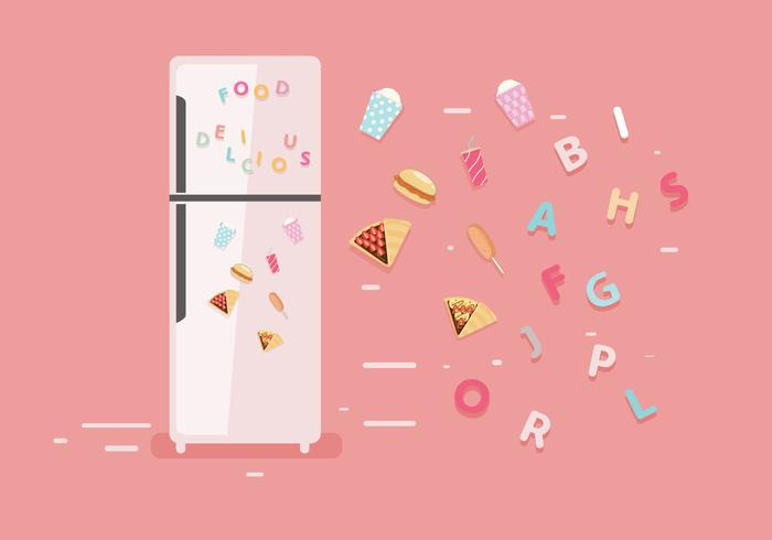 Kylskåpmagneter Vector