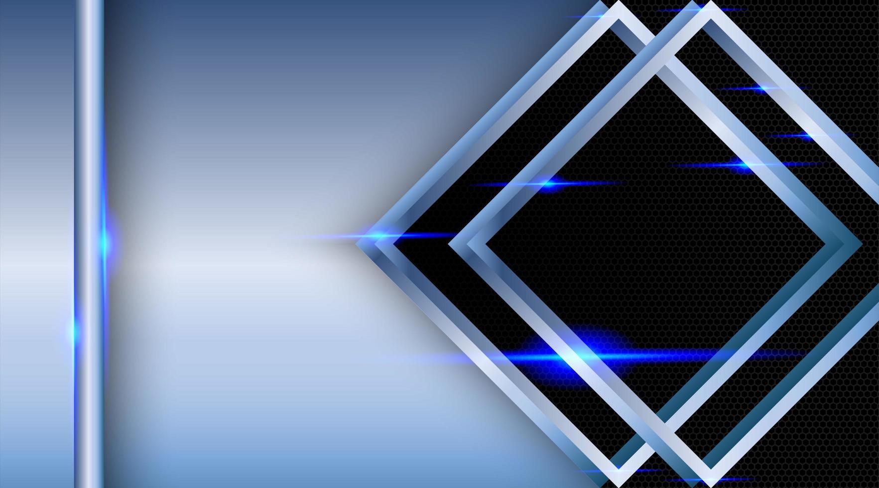 überlappender abstrakter Hintergrund des metallischen Diamanten vektor