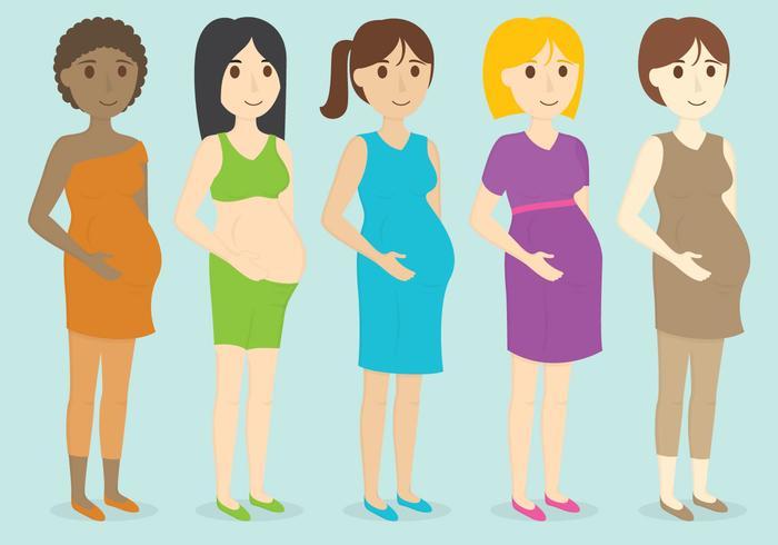 Schwangere Charaktere vektor