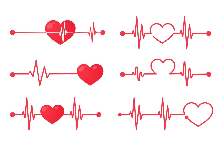 hjärtfrekvensgrafik vektor