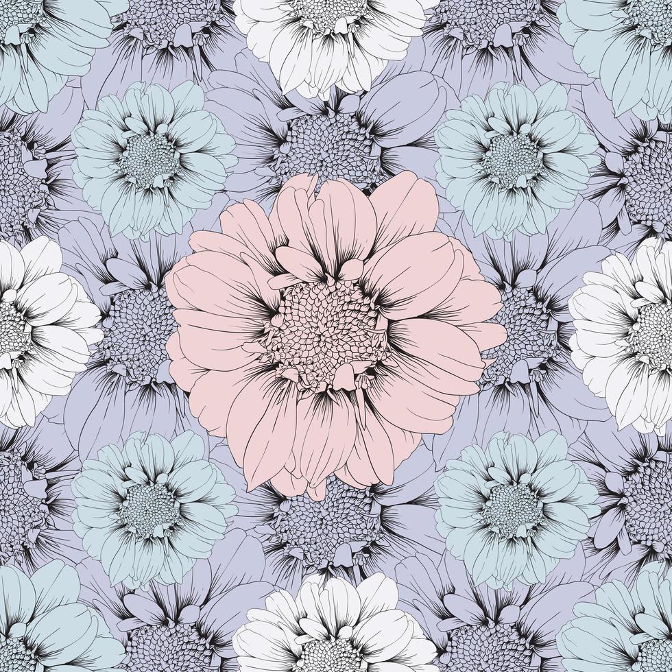 pastell zinnia blommor vektor
