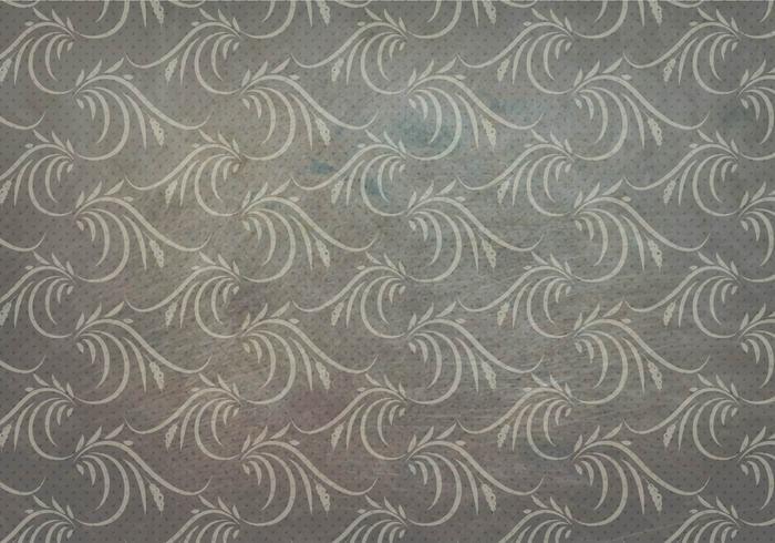 Träkol Vector Western Flourish Seamless Pattern